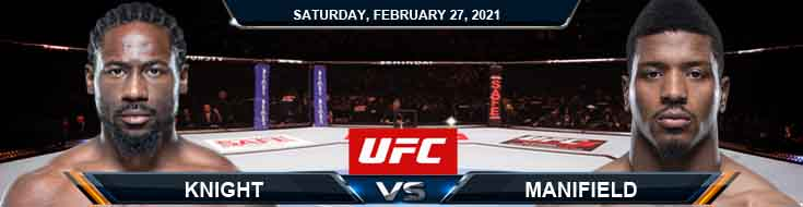 UFC Fight Night 186 Knight vs Menifield 02-27-2021 Forecast Tips and Results