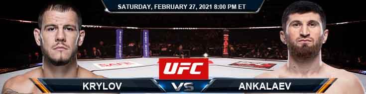 UFC Fight Night 186 Krylov vs Ankalaev 02-27-2021 Picks Predictions and Previews