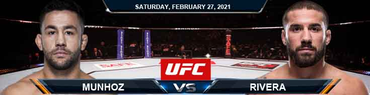 UFC Fight Night 186 Munhoz vs Rivera 02-27-2021 Previews Spread and Fight Analysis