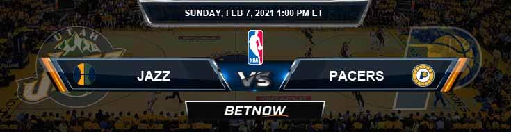 Utah Jazz vs Indiana Pacers 2-7-2021 NBA Picks and Game Analysis
