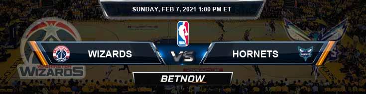 Washington Wizards vs Charlotte Hornets 2-7-2021 Odds Picks and Previews
