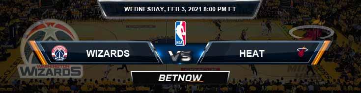 Washington Wizards vs Miami Heat 2-3-2021 NBA Picks and Game Analysis