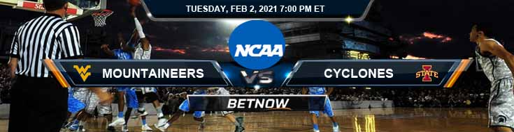 West Virginia Mountaineers vs Iowa State Cyclones 02-02-2021 Odds Basketball Betting & Previews