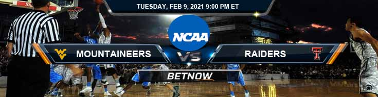 West Virginia Mountaineers vs Texas Tech Raiders 02-09-2021 Picks NCAAB Spread & Previews