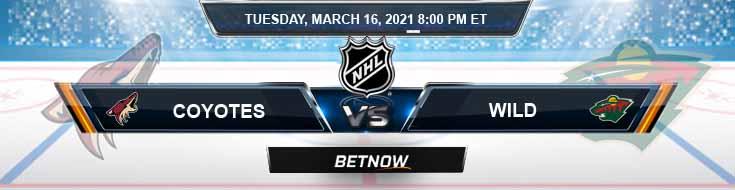 Arizona Coyotes vs Minnesota Wild 03-16-2021 Hockey Previews Spread and Game Analysis