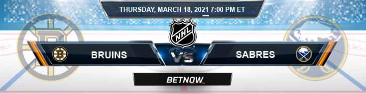 Boston Bruins vs Buffalo Sabres 03-18-2021 NHL Analysis Results and Hockey Betting