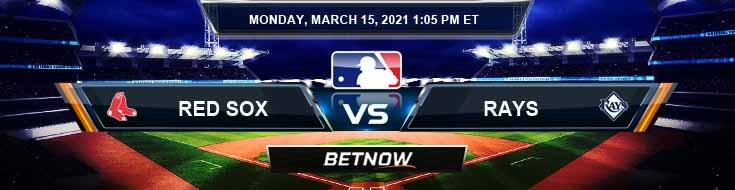 Boston Red Sox vs Tampa Bay Rays 03-15-2021 Game Analysis MLB Baseball and Spring Training