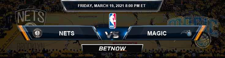 Brooklyn Nets vs Orlando Magic 3-19-2021 Spread Picks and Prediction