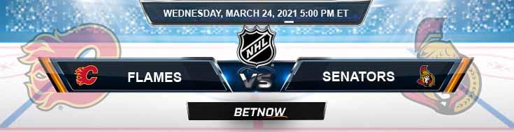 Calgary Flames vs Ottawa Senators 03-24-2021 Tips Hockey Forecast and Analysis