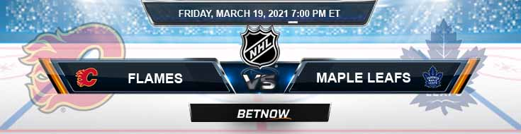 Calgary Flames vs Toronto Maple Leafs 03-19-2021 Results Hockey Betting and Odds