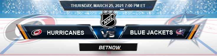 Carolina Hurricanes vs Columbus Blue Jackets 03-25-2021 Forecast Hockey Analysis and Results