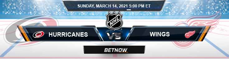 Carolina Hurricanes vs Detroit Red Wings 03-14-2021 Hockey Betting Odds and NHL Picks