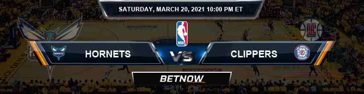 Charlotte Hornets vs Los Angeles Clippers 3-20-2021 NBA Spread and Picks