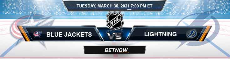 Columbus Blue Jackets vs Tampa Bay Lightning 03-30-2021 Picks Hockey Predictions and Previews