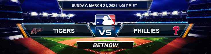 Detroit Tigers vs Philadelphia Phillies 03-21-2021 MLB Spread Game Analysis and Baseball Betting