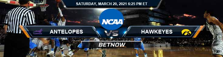 Grand Canyon Antelopes vs Iowa Hawkeyes 03-20-2021 Game Analysis NCAAB Spread & Picks