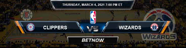 Los Angeles Clippers vs Washington Wizards 3-4-2021 NBA Spread and Picks