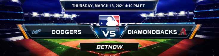Los Angeles Dodgers vs Arizona Diamondbacks 03-18-2021 Analysis Spring Training Results and Odds