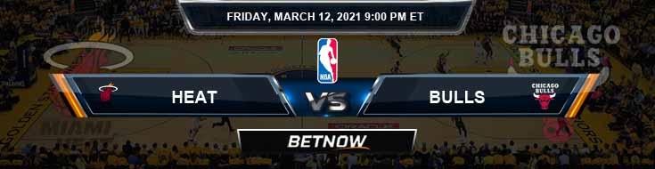 Miami Heat vs Chicago Bulls 3-12-2021 NBA Picks and Game Analysis