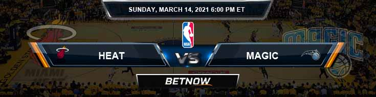 Miami Heat vs Orlando Magic 3-14-2021 Spread Previews and Prediction