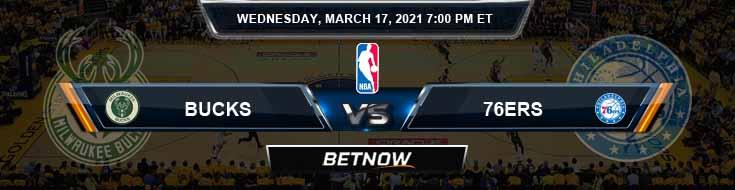 Milwaukee Bucks vs Philadelphia 76ers 3-17-2021 NBA Spread and Picks