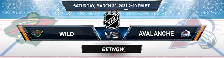 Minnesota Wild vs Colorado Avalanche 03-20-2021 NHL Picks Predictions and Hockey Previews