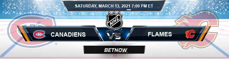 Montreal Canadiens vs Calgary Flames 03-13-2021 NHL Analysis Results and Hockey Betting