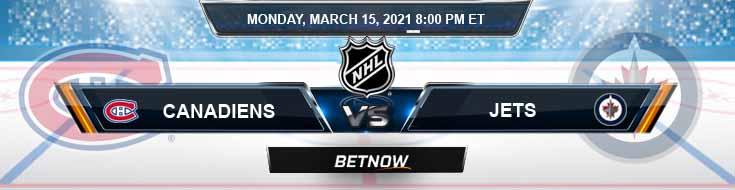 Montreal Canadiens vs Winnipeg Jets 03-15-2021 NHL Picks Predictions and Hockey Previews