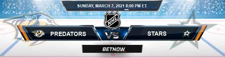 Nashville Predators vs Dallas Stars 03-07-2021 Hockey Betting Odds and NHL Picks