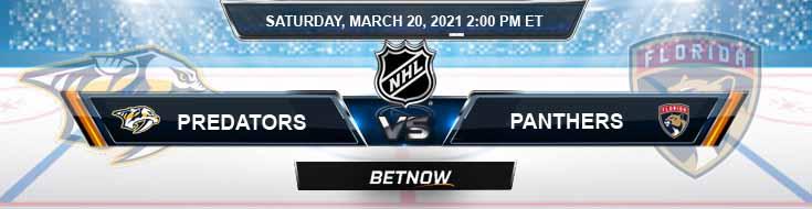 Nashville Predators vs Florida Panthers 03-20-2021 Odds Hockey Picks and Predictions