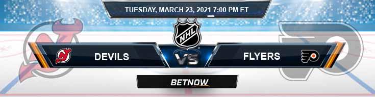 New Jersey Devils vs Philadelphia Flyers 03-23-2021 Game Analysis Hockey Tips and Forecast