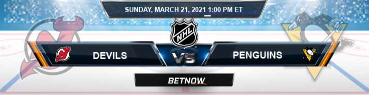 New Jersey Devils vs Pittsburgh Penguins 03-21-2021 NHL Predictions Previews and Hockey Spread