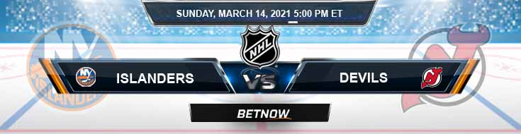 New York Islanders vs New Jersey Devils 03-14-2021 Odds Picks and Predictions