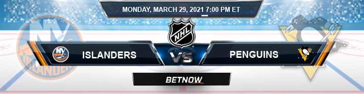 New York Islanders vs Pittsburgh Penguins 03-29-2021 Hockey Odds Picks and NHL Predictions