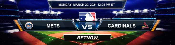 New York Mets vs St. Louis Cardinals 03-29-2021 Baseball Picks Predictions and Spring Training Previews