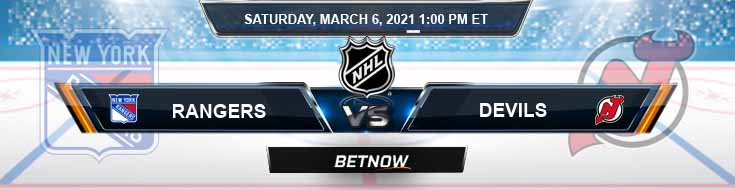New York Rangers vs New Jersey Devils 03-06-2021 Spread Game Analysis and Tips