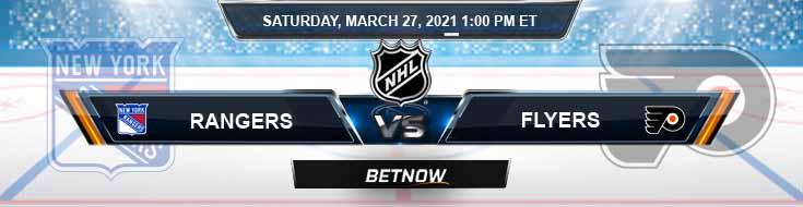 New York Rangers vs Philadelphia Flyers 03-27-2021 Results Hockey Betting and Odds