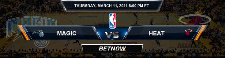 Orlando Magic vs Miami Heat 3-11-2021 Spread Previews and Prediction