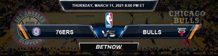 Philadelphia 76ers vs Chicago Bulls 3-11-2021 Odds Picks and Previews