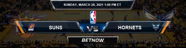 Phoenix Suns vs Charlotte Hornets 3-28-2021 Odds Picks and Previews