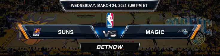Phoenix Suns vs Orlando Magic 3-24-2021 Odds Picks and Previews