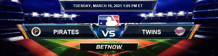 Pittsburgh Pirates vs Minnesota Twins 03-16-2021 MLB Baseball Tips and Spring Training Betting