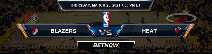 Portland Trail Blazers vs Miami Heat 3-25-2021 Odds Picks and Previews