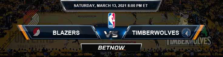 Portland Trail Blazers vs Minnesota Timberwolves 3-13-2021 NBA Odds and Picks