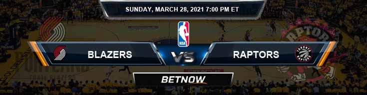 Portland Trail Blazers vs Toronto Raptors 3-28-2021 NBA Picks and Previews
