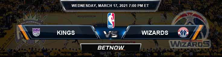 Sacramento Kings vs Washington Wizards 3-17-2021 NBA Spread and Odds