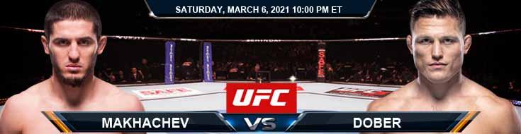 UFC 259 Makhachev vs Dober 03-06-2021 Analysis Odds and Picks
