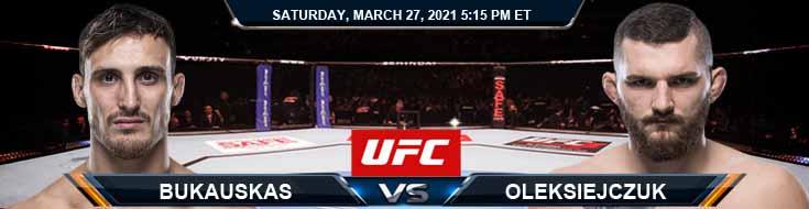 UFC 260 Bukauskas vs Oleksiejczuk 03-27-2021 Tips Results and Analysis