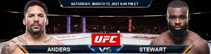UFC Fight Night 187 Anders vs Stewart 03-13-2021 Forecast Fight Tips and Results