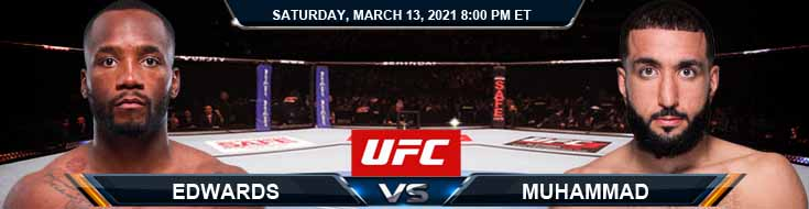UFC Fight Night 187 Edwards vs Muhammad 03-13-2021 Odds Picks and Predictions